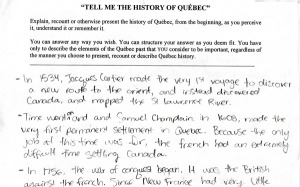 jocelyn létourneau survey historical consciousness québec history