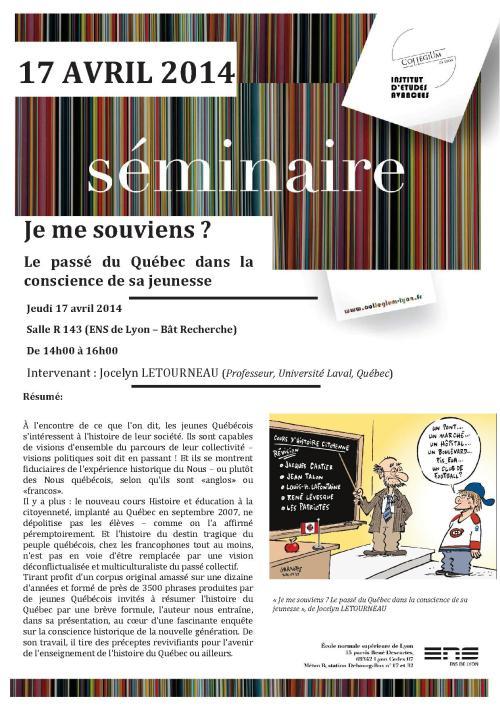 AfficheSem_17042014_JeMeSouviens
