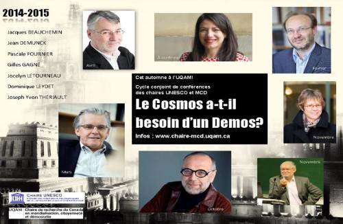 Conférence Jocelyn Létourneau Chaire de recherche du Canada en mondialisation, citoyenneté et démocratie