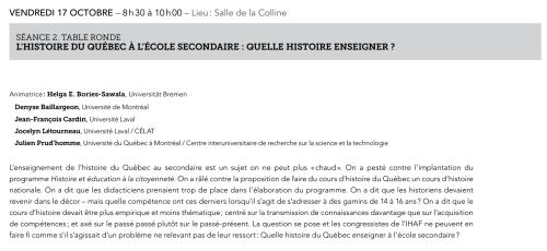 Jocelyn Létourneau participera à une table ronde dans le cadre du 67e Congrès de l'Institut d'histoire de l'Amérique française.