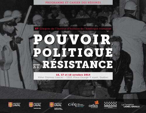 Cliquez sur l'image pour accéder au programme du 67e Congrès de l'Institut d'histoire de l'Amérique française