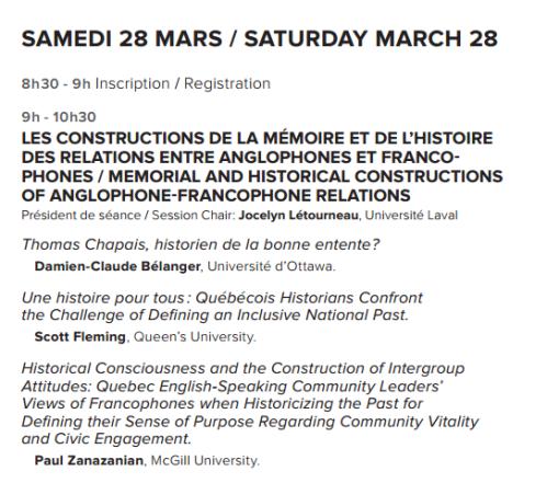 Rencontres ambiguës. relations entre anglophones et francophones au Québec.