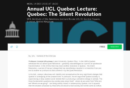 Quebec Silent Revolution